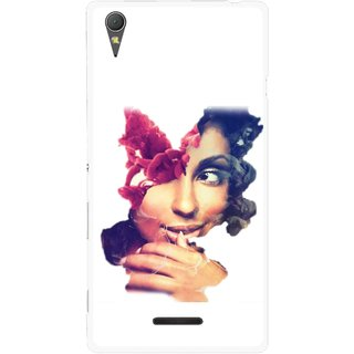 Snooky Printed Vintage Girl Mobile Back Cover For Sony Xperia T3 - Multicolour