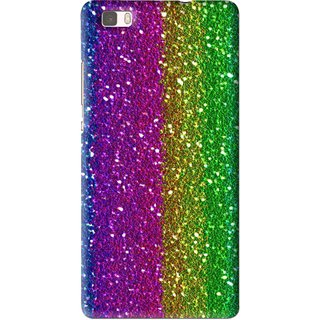 Snooky Printed Sparkle Mobile Back Cover For Huawei Ascend P8 Lite - Multi