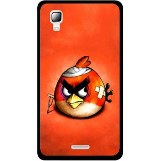 Snooky Printed Wouded Bird Mobile Back Cover For Micromax Canvas Doodle 3 A102 - Red