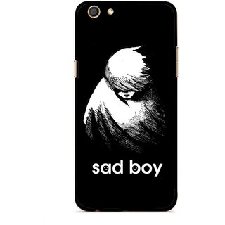 Snooky Printed Sad Boy Mobile Back Cover For Oppo F3 - Multi