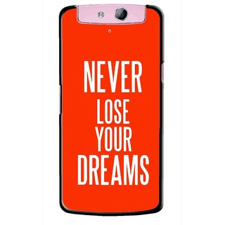 Snooky Printed Never Loose Mobile Back Cover For Oppo N1 - Multicolour