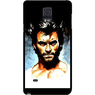Snooky Printed Angry Man Mobile Back Cover For Samsung Galaxy Note 4 - Multicolour