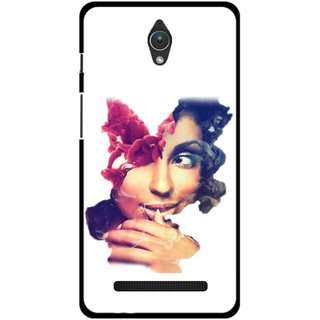 Snooky Printed Vintage Girl Mobile Back Cover For Asus Zenfone C - Multicolour