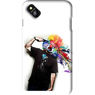 Snooky Printed Shooting Joker Mobile Back Cover For Micromax Bolt D303 - Multi