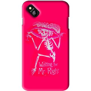 Snooky Printed Mr.Right Mobile Back Cover For Micromax Bolt D303 - Multi