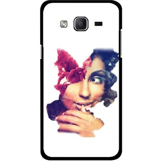 Snooky Printed Vintage Girl Mobile Back Cover For Samsung Galaxy On7 - Multicolour