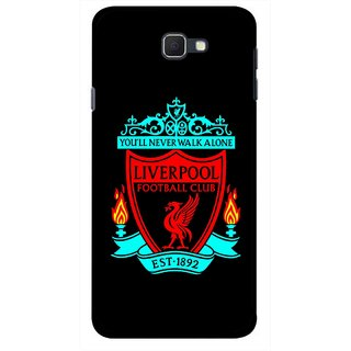 Snooky Printed Football Club Mobile Back Cover For Samsung Galaxy J5 Prime - Multicolour