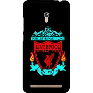 Snooky Printed Football Club Mobile Back Cover For Asus Zenfone 6 - Multicolour