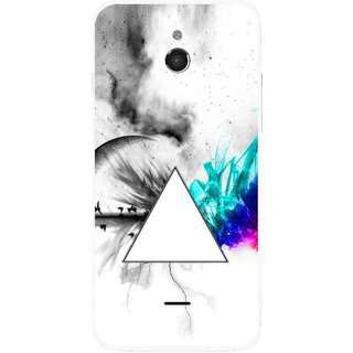 Snooky Printed Math Art Mobile Back Cover For Infocus M2 - Multicolour