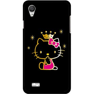 Snooky Printed Princess Kitty Mobile Back Cover For Vivo Y11 - Multi