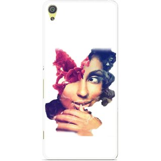 Snooky Printed Vintage Girl Mobile Back Cover For Sony Xperia XA - Multicolour