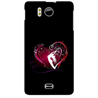 Snooky Printed Lady Heart Mobile Back Cover For Micromax Canvas DOODLE A111 - Multicolour