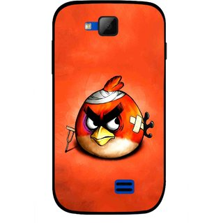Snooky Printed Wouded Bird Mobile Back Cover For Micromax Canvas Fun A63 - Red