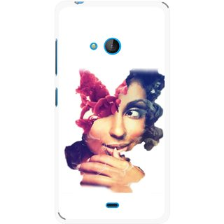Snooky Printed Vintage Girl Mobile Back Cover For Nokia Lumia 540 - Multicolour