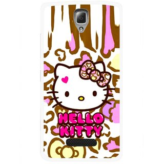 Snooky Printed Cute Kitty Mobile Back Cover For Lenovo A2010 - Multicolour
