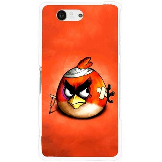 Snooky Printed Wouded Bird Mobile Back Cover For Sony Xperia Z3 Compact - Red