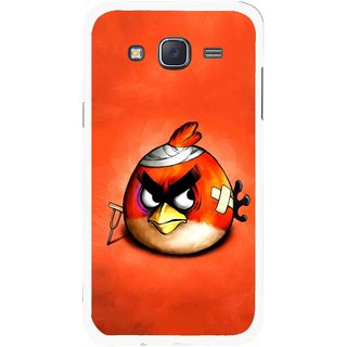 Snooky Printed Wouded Bird Mobile Back Cover For Samsung Galaxy J5 - Red
