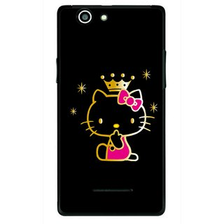 Snooky Printed Princess Kitty Mobile Back Cover For Xolo A500s - Multi