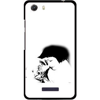 Snooky Printed Pet Lover Mobile Back Cover For Micromax Canvas Unite 3 - Multi