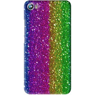 Snooky Printed Sparkle Mobile Back Cover For Micromax Canvas Fire 4 A107 - Multi