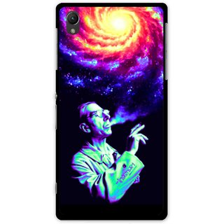 Snooky Printed Universe Mobile Back Cover For Sony Xperia Z1 - Multi