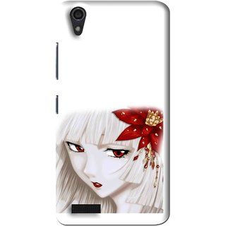 Snooky Printed Chinies Girl Mobile Back Cover For Lenovo A3900 - Multi