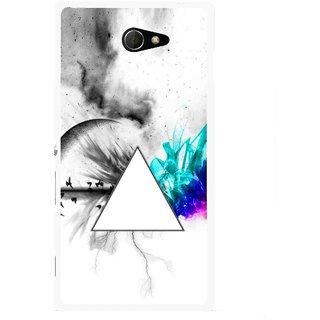 Snooky Printed Math Art Mobile Back Cover For Sony Xperia M2 - Multicolour
