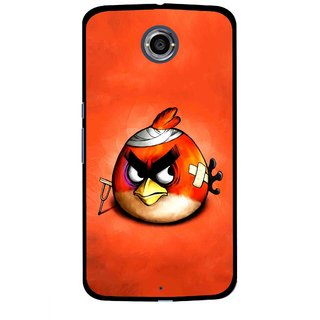 Snooky Printed Wouded Bird Mobile Back Cover For Motorola Nexus 6 - Red