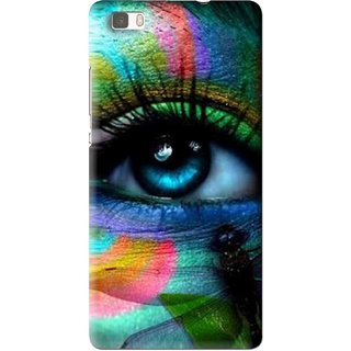 Snooky Printed Designer Eye Mobile Back Cover For Huawei Ascend P8 Lite - Multi