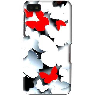 Snooky Printed Butterfly Mobile Back Cover For Blackberry Z10 - Multi