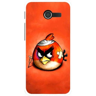 Snooky Printed Wouded Bird Mobile Back Cover For Asus Zenfone 4 - Red
