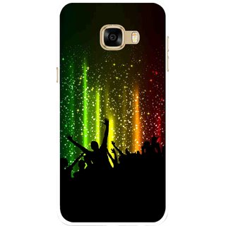 Snooky Printed Party Time Mobile Back Cover For Samsung Galaxy C7 - Multicolour