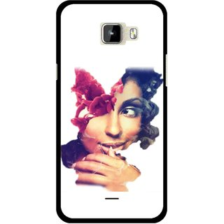 Snooky Printed Vintage Girl Mobile Back Cover For Micromax Canvas Nitro A310 - Multicolour