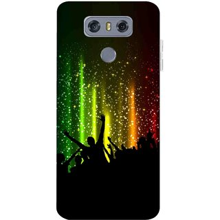 Snooky Printed Party Time Mobile Back Cover For LG G6 - Multicolour