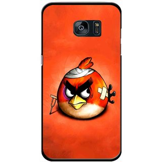 Snooky Printed Wouded Bird Mobile Back Cover For Samsung Galaxy S7 - Red