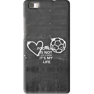 Snooky Printed Football Life Mobile Back Cover For Huawei Ascend P8 Lite - Multi