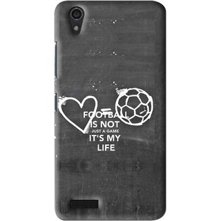 Snooky Printed Football Life Mobile Back Cover For Lenovo A3900 - Multi