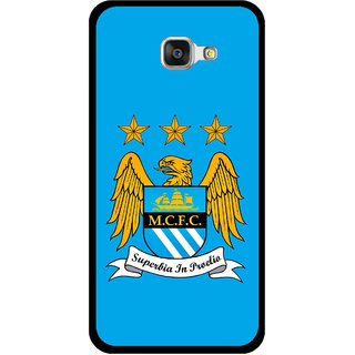 Snooky Printed Eagle Logo Mobile Back Cover For Samsung Galaxy A3 (2016) - Blue