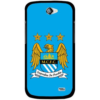Snooky Printed Eagle Logo Mobile Back Cover For Gionee Pioneer P2 - Blue