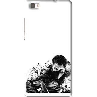 Snooky Printed Commando Mobile Back Cover For Huawei Ascend P8 Lite - Multi