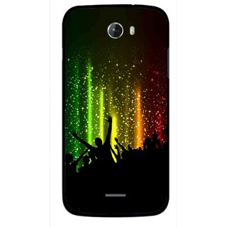 Snooky Printed Party Time Mobile Back Cover For Micromax Bolt A068 - Multicolour