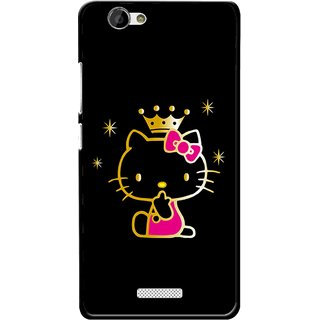Snooky Printed Princess Kitty Mobile Back Cover For Gionee M2 - Multi