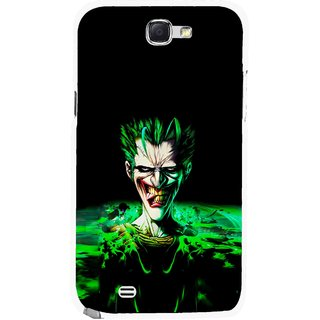 Snooky Printed Daring Joker Mobile Back Cover For Samsung Galaxy Note 2 - Multicolour