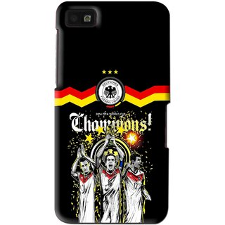 Snooky Printed Champions Mobile Back Cover For Blackberry Z10 - Multi