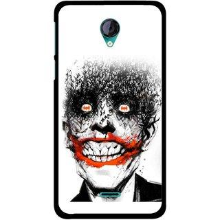 Snooky Printed Joker Mobile Back Cover For Micromax Canvas Unite 2 - Multicolour