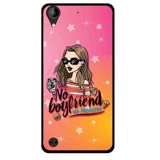 Snooky Printed No Boyfriend Mobile Back Cover For HTC Desire 630 - Multi