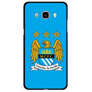 Snooky Printed Eagle Logo Mobile Back Cover For Samsung Galaxy J5 (2017) - Blue