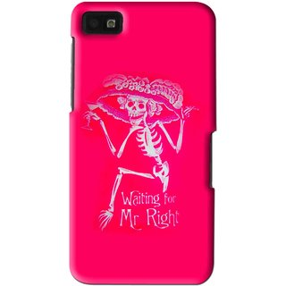 Snooky Printed Mr.Right Mobile Back Cover For Blackberry Z10 - Multi