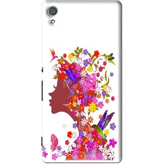 Snooky Printed Girl Beauty Mobile Back Cover For Sony Xperia Z4 - Multi