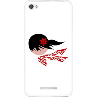 Snooky Printed Caty Girl Mobile Back Cover For Micromax Canvas Hue 2 - Multi